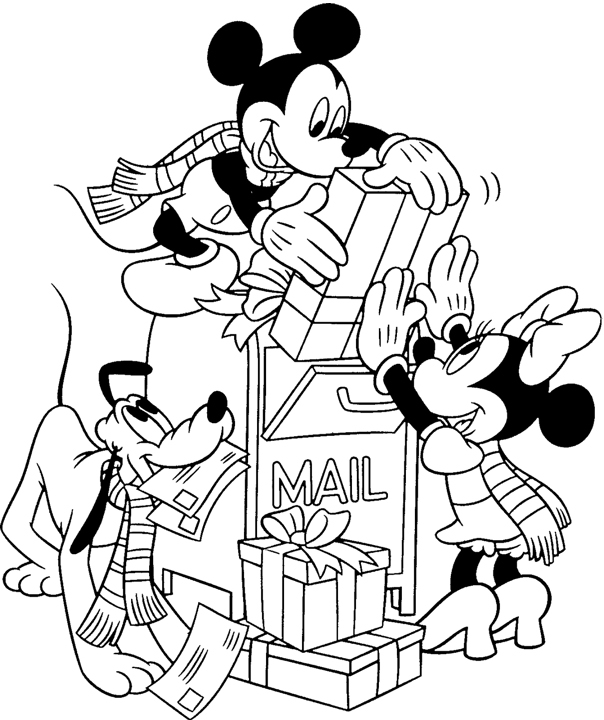 pluto christmas coloring pages - photo #9
